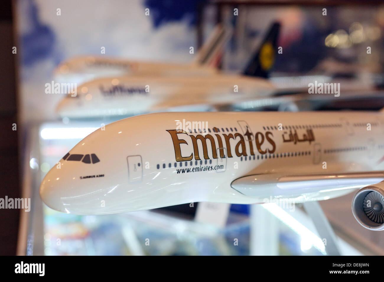 Dubai, United Arab Emirates, the Emirates airline plane model - Stock Image
