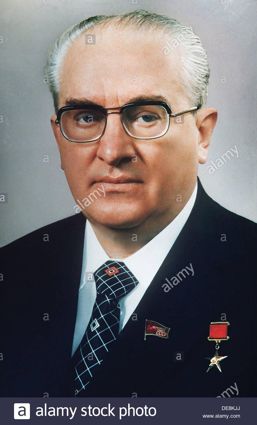 Yuri Vladimirovich Andropov. Artist: Anonymous - Stock Image