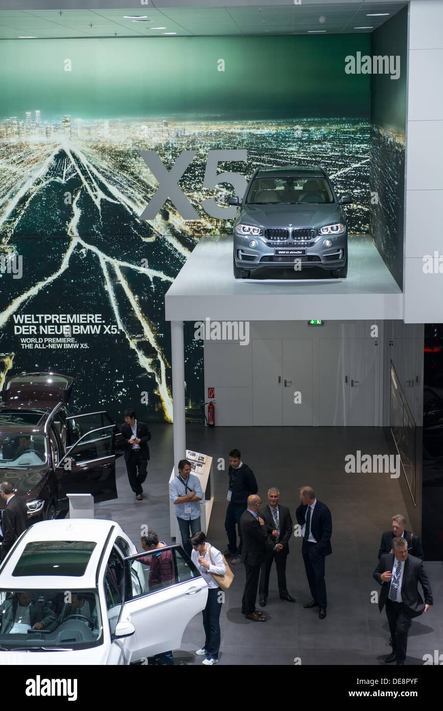 Frankfurt, Germany. 11th Sep, 2013. : Frankfurt international motor show (IAA) 2013. BMW X5 new generation - world premiere © Alexey Zarubin/Alamy Live News - Stock Image