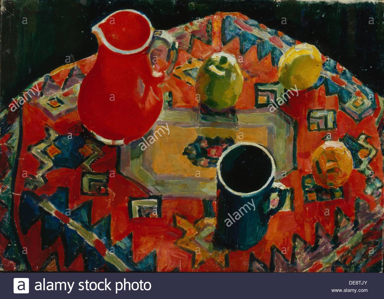 Apples and Pears, 1930. Artist: Razumovskaya, Julia (1896-1987) - Stock Image
