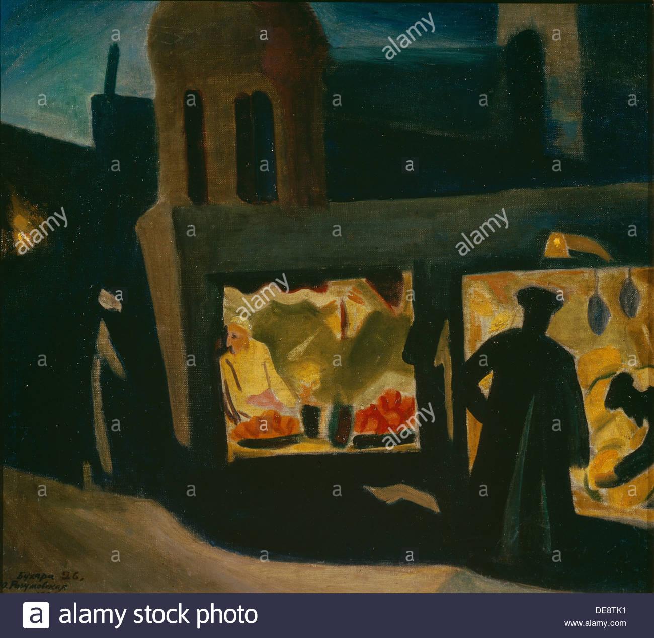 Bukhara. Evening Motif, 1926. Artist: Razumovskaya, Julia (1896-1987) - Stock Image