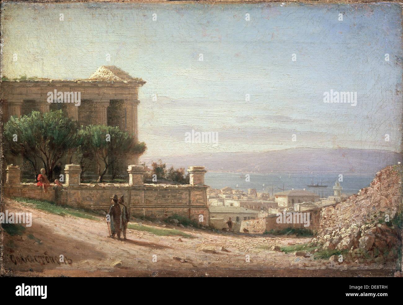 Sevastopol. Artist: Vereshchagin, Pyotr Petrovich (1836-1886) - Stock Image