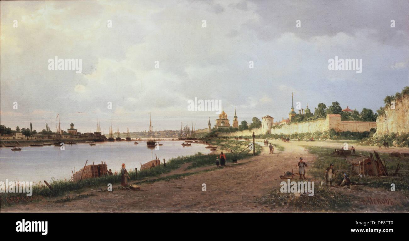 Pskov, 1876. Artist: Vereshchagin, Pyotr Petrovich (1836-1886) - Stock Image