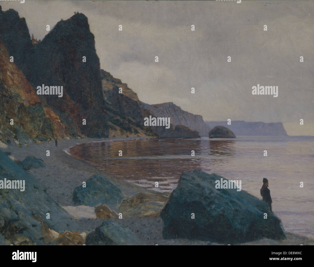 Near the St. George Monastery. Crimea. Artist: Vereshchagin, Vasili Vasilyevich (1842-1904) Stock Photo