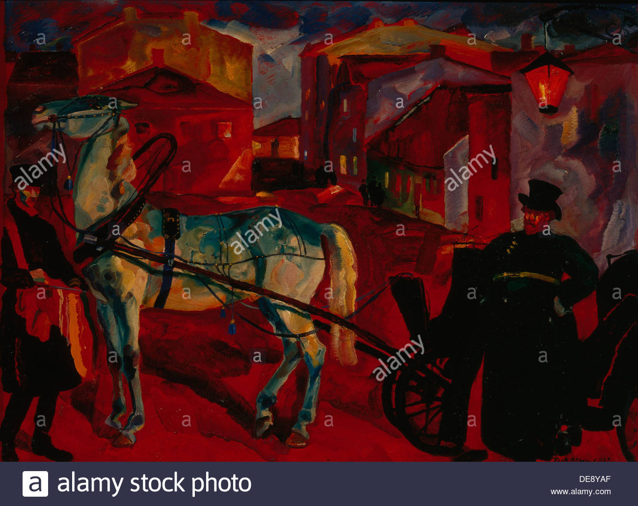 A coachman, 1922. Artist: Frenz, Rudolph Rudolphovich (1888-1956) - Stock Image