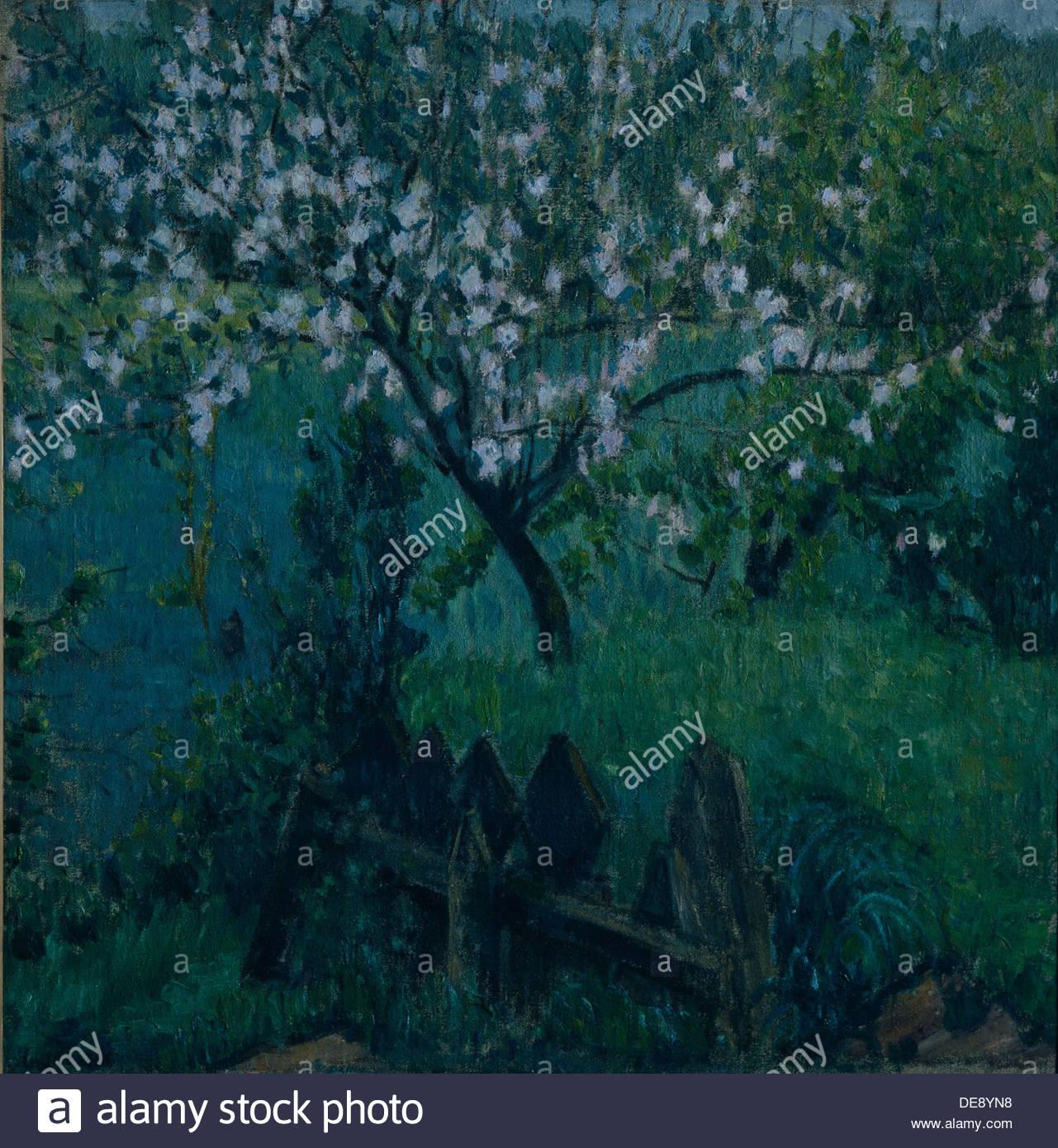 Apple Tree After Rain, 1906. Artist: Larionov, Mikhail Fyodorovich (1881-1964) - Stock Image