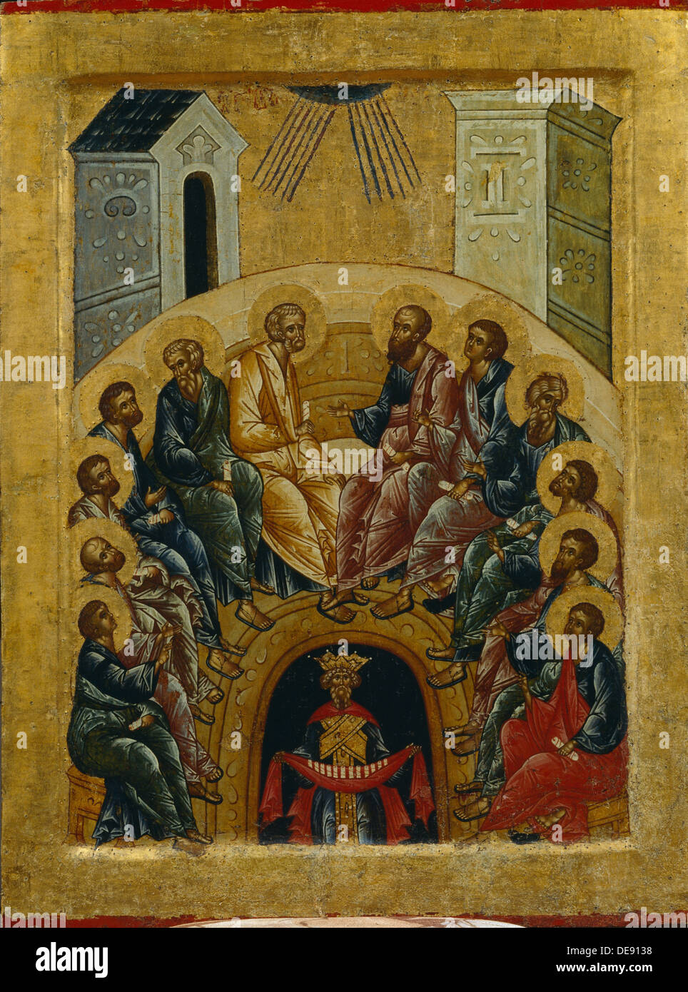 The Descent of the Holy Spirit, 1497. Artist: Russian icon