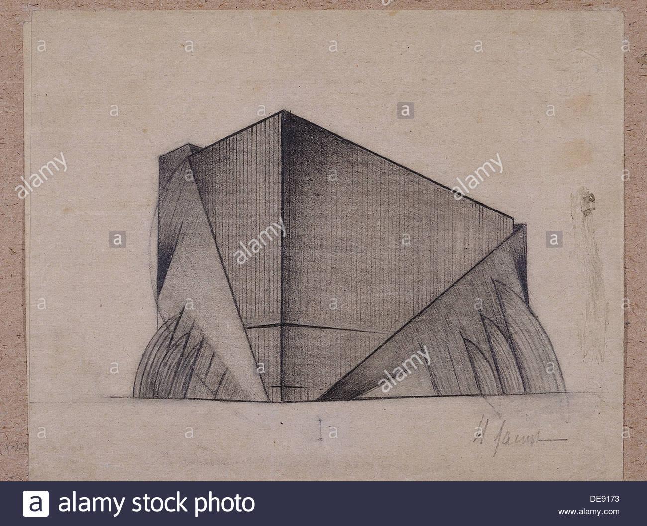 Parallelepiped, 1921. Artist: Lamtsov, Ivan Vasilyevich (1899-1990) - Stock Image