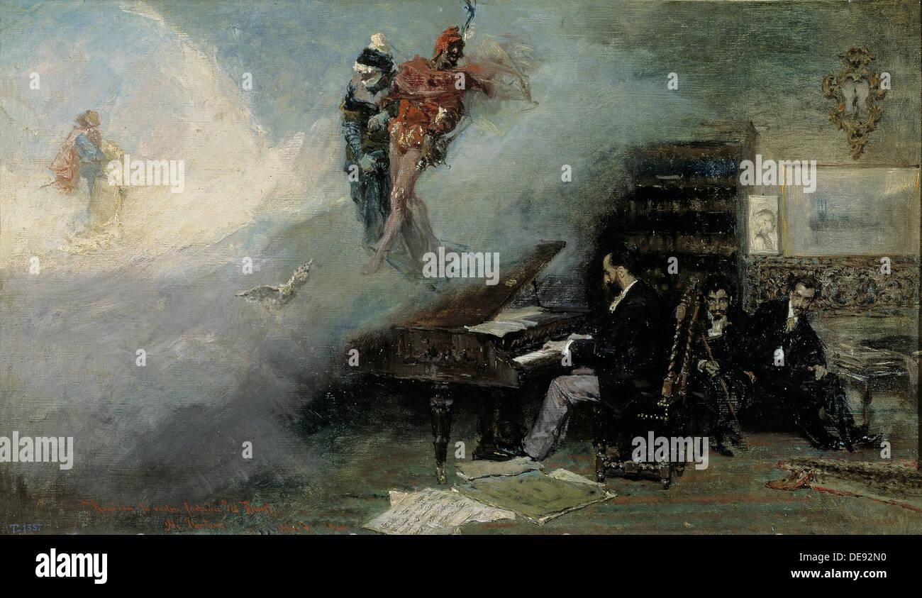 Fantasy on Faust (Fantasía sobre Fausto), 1866. Artist: Fortuny, Marià (1838-1874) - Stock Image