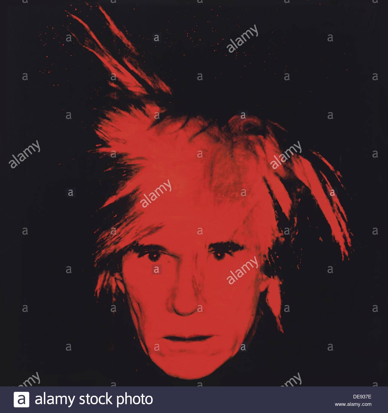 Self-Portrait, 1986. Artist: Warhol, Andy (1928-1987) - Stock Image
