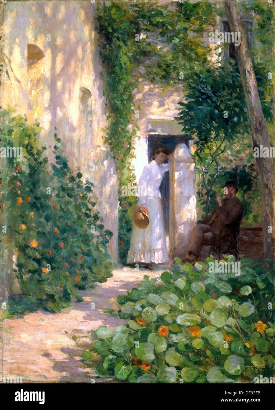 Nasturtiums, c. 1903. Artist: Tucker, Tudor St George (1862-1906) - Stock Image