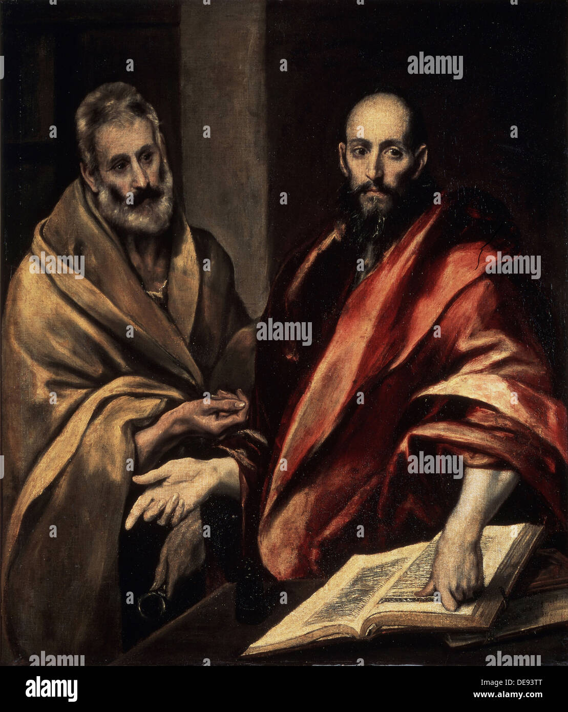 The Apostles St. Peter and St. Paul, 1587-1592. Artist: El Greco, Dominico (1541-1614) - Stock Image