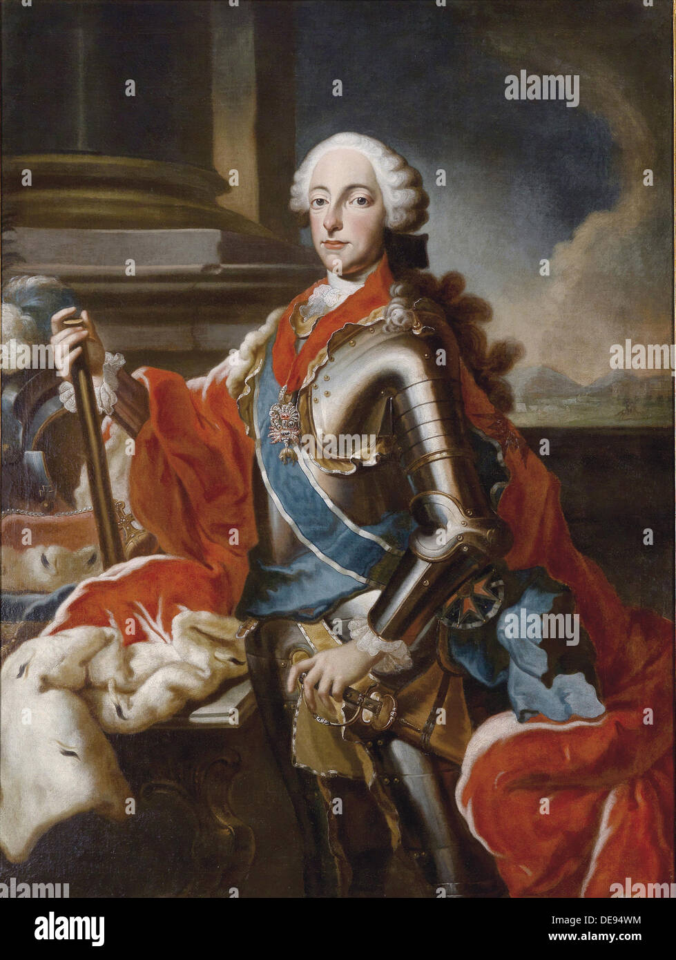 Portrait of Maximilian III Joseph (1727-1777), Elector of Bavaria, Mid of the 18th cen.. Artist: Desmarées, George (1697-1776) - Stock Image