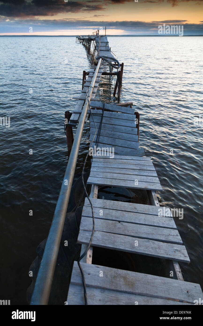 One of the water intake in the township Mys Kamenny, Yamal, Russia - Stock Image
