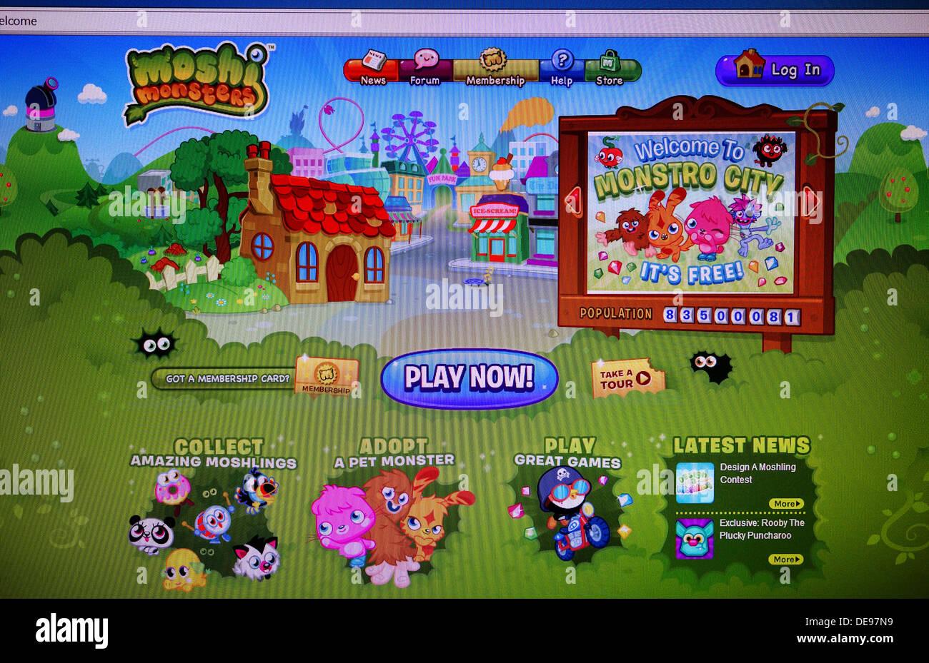 Moshi Monsters internet game - Stock Image