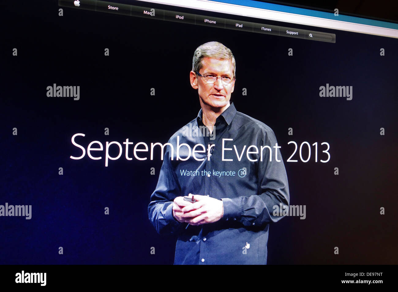 Tim Cook the Apple CEO - Stock Image