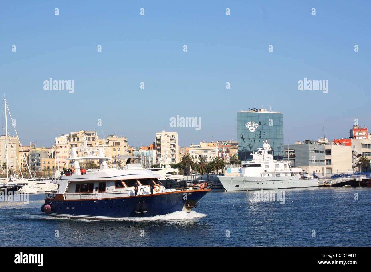 Boats in Barcelona, Spain Stock Photo