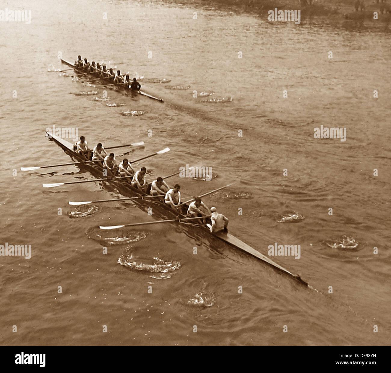 University Boat Race in 1909 - Stock Image