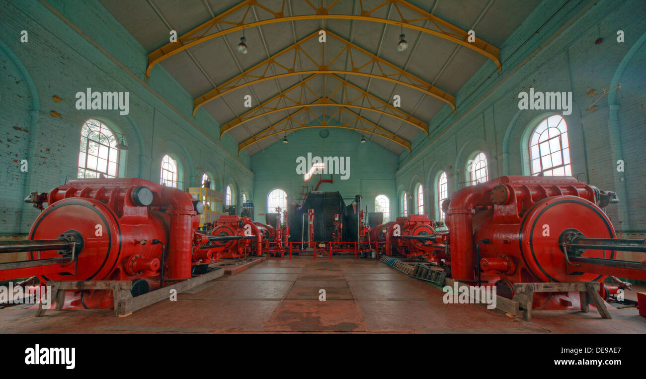 Astley Green Pit Red No1 Winding Gear Engine - Stock Image