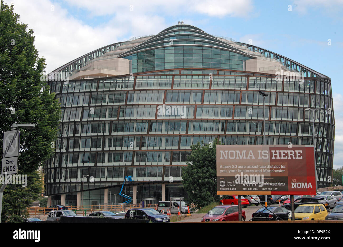 1 Angel Square, Co-operative Society Headquarters, Miller Street, Manchester,England,UK - Stock Image