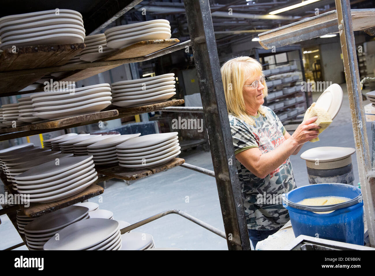 The factory of the Homer Laughlin China Company  Makers of Fiesta