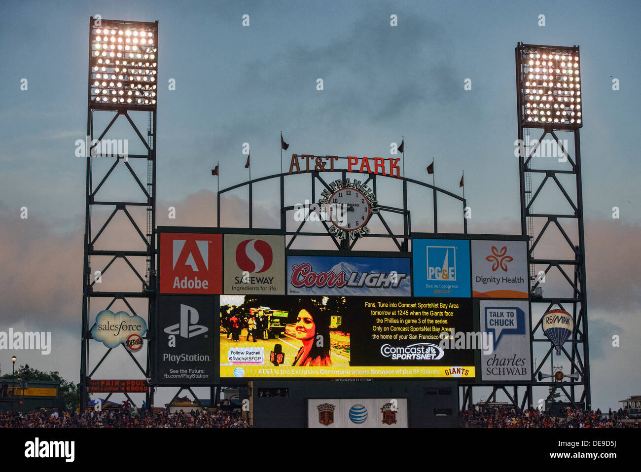 AT&T Park, home of the San Francisco Giants - Stock Image