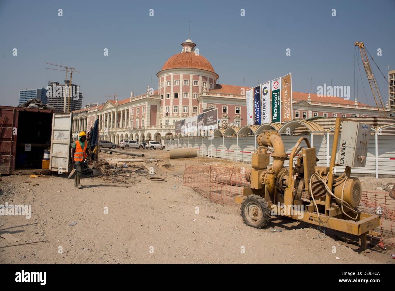 Building site, Luanda, Angola - Stock Image