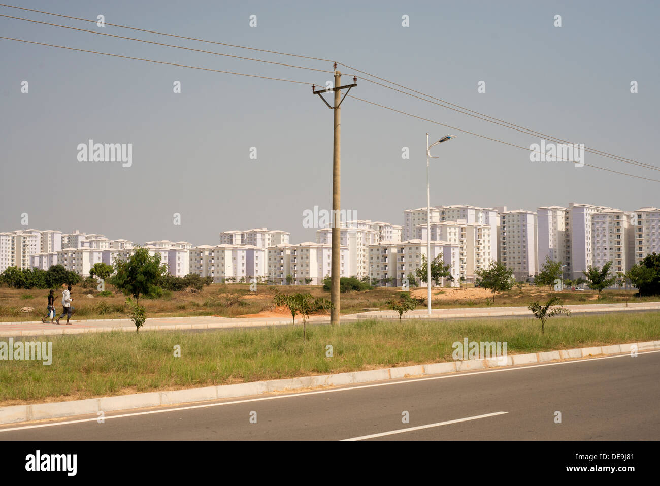 The new town, Nova Cidade de Kilamba, Luanda, Angola built by China - Stock Image