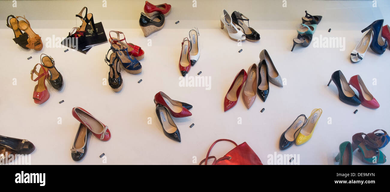 display of shoes - Stock Image