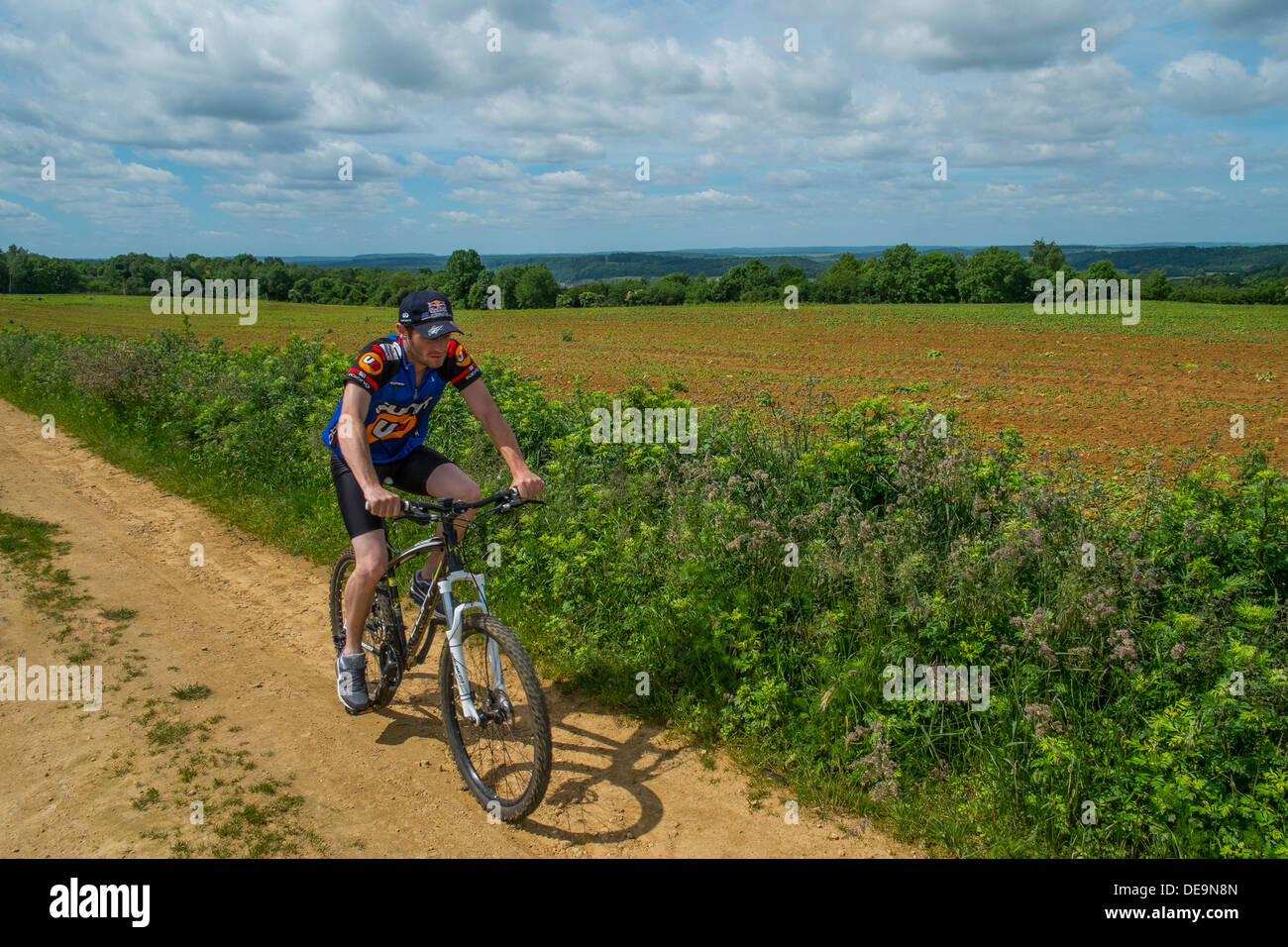 offroad cyclist - Stock Image