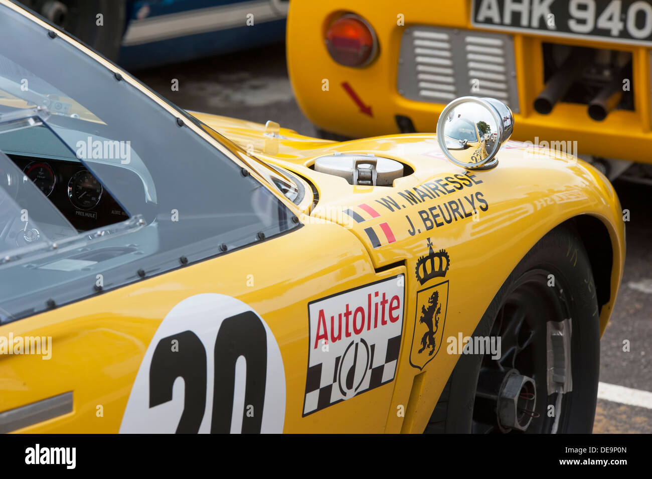 Detail Of Ford Gt  Le Mans Car Showing R H Front With Fuel Cap