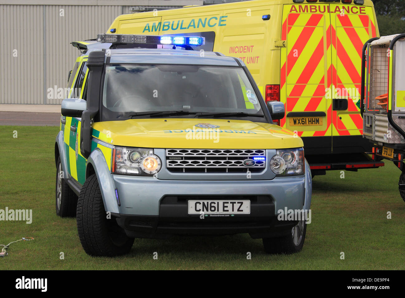 NHS, Ambulance service Hazardous Area Response Team (HART) vehicle on display at a public event in Essex. - Stock Image