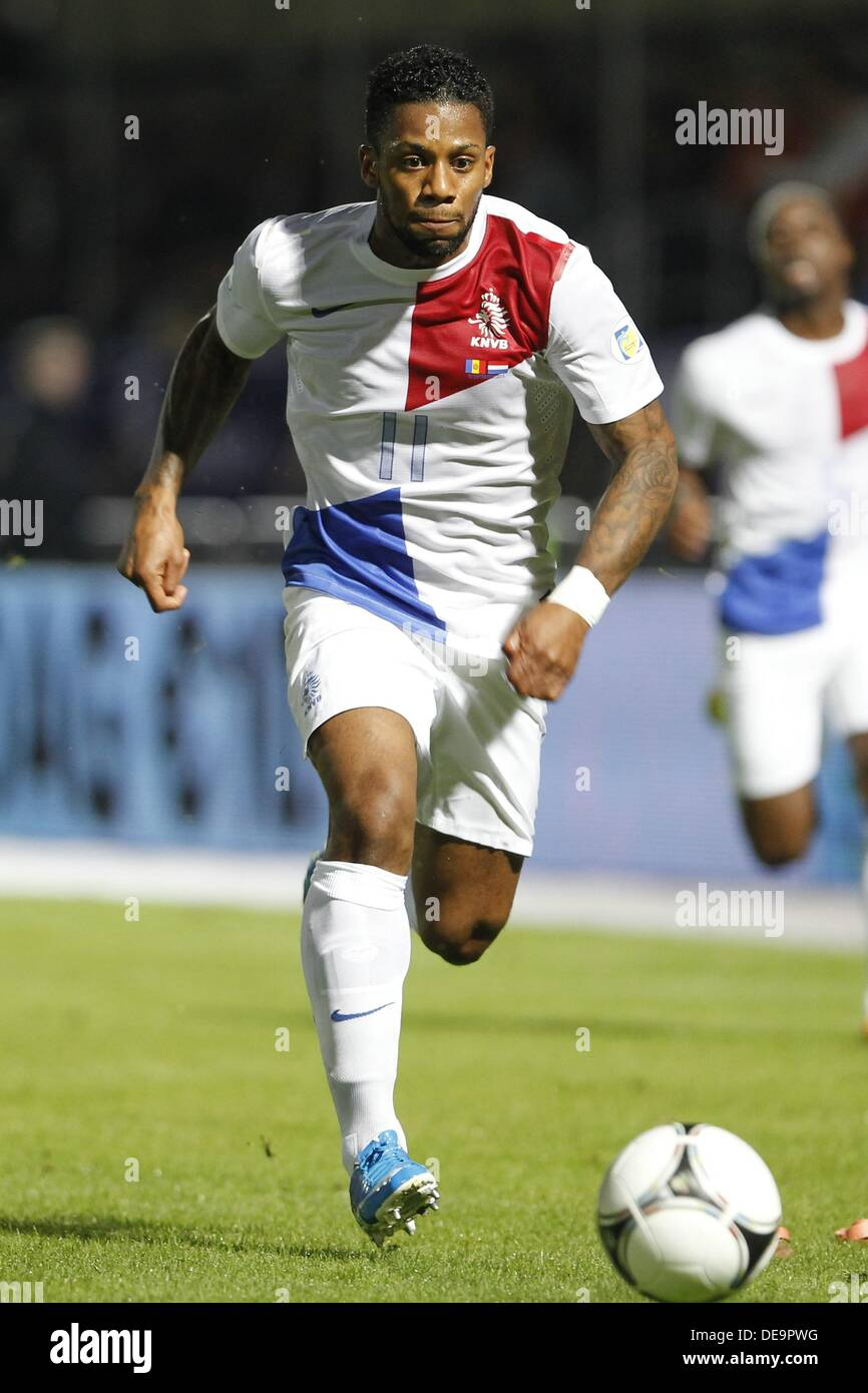 Jeremain Lens (NED), SEPTEMBER 10, 2013 - Football / Soccer : FIFA World Cup 2014 Qualifying round match between Stock Photo