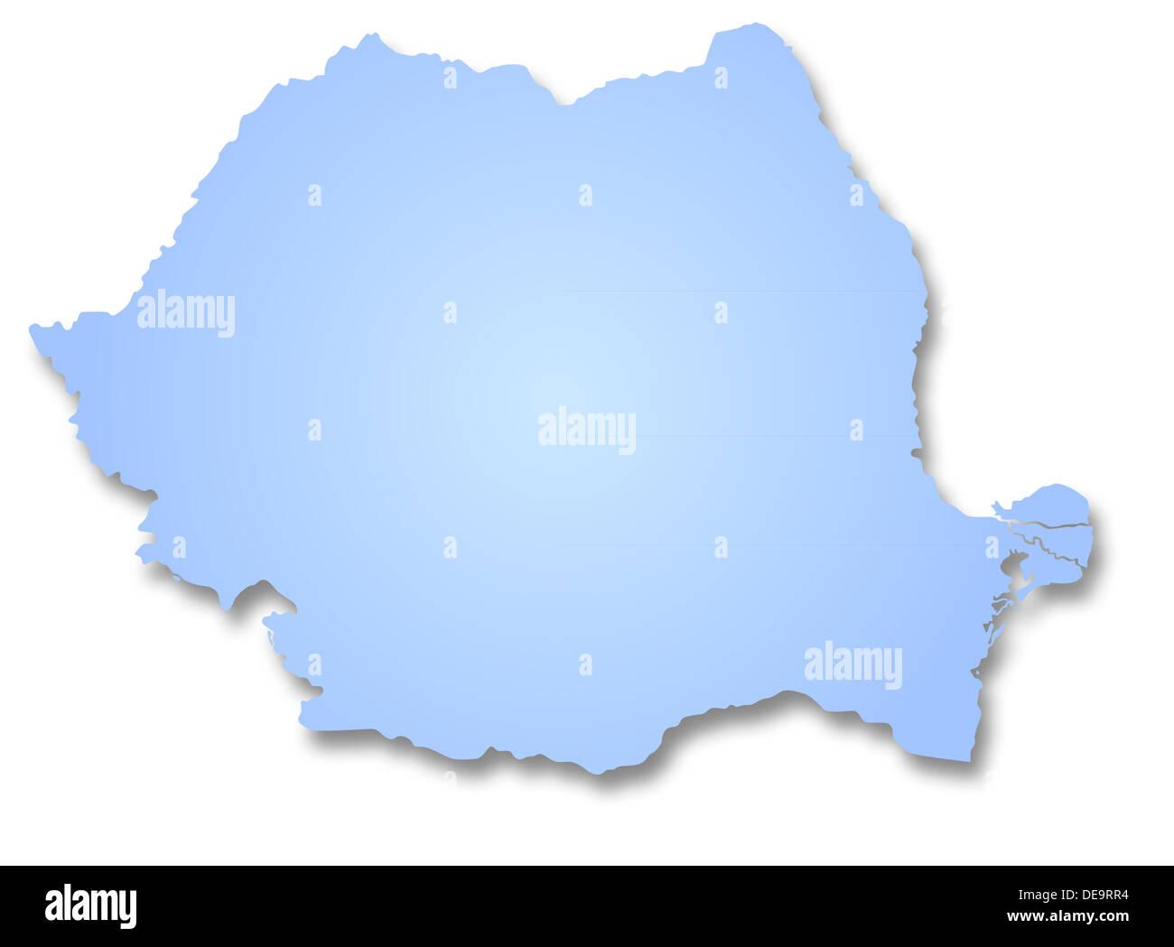 Map of Romania - Stock Image