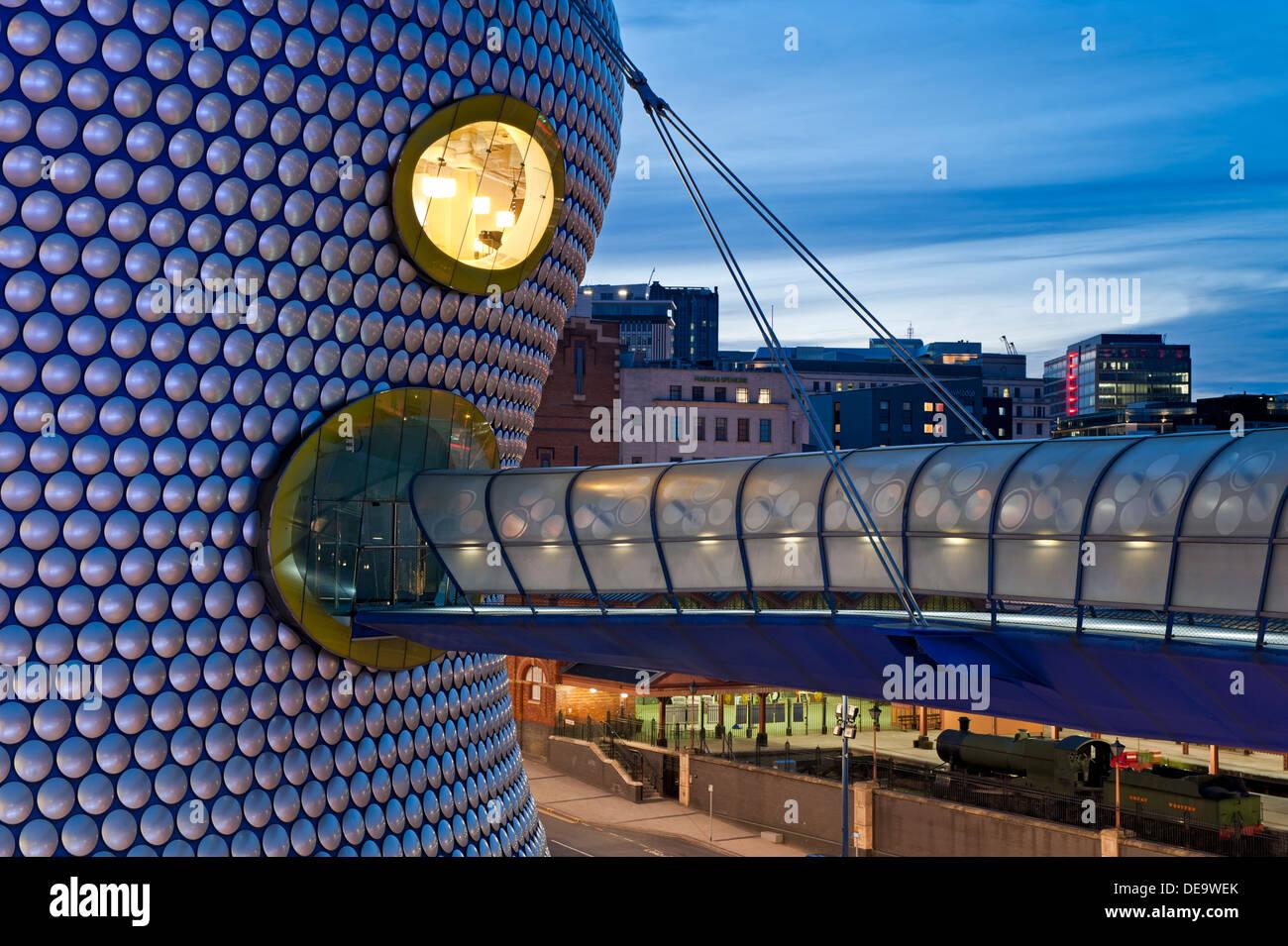 Selfridge's Department Store at Night, The Bull Ring, Birmingham City Centre, Birmingham, West Midlands, England, UK - Stock Image