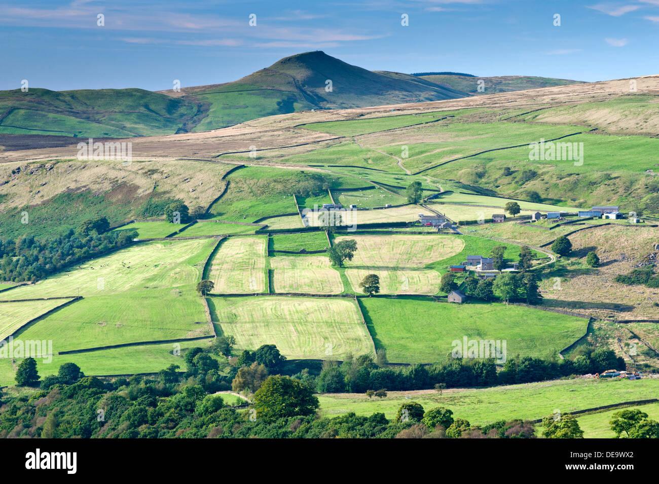 Peak of Shutlingsloe and Cheshire's Peak District, Peak District National Park, Cheshire, England, UK - Stock Image