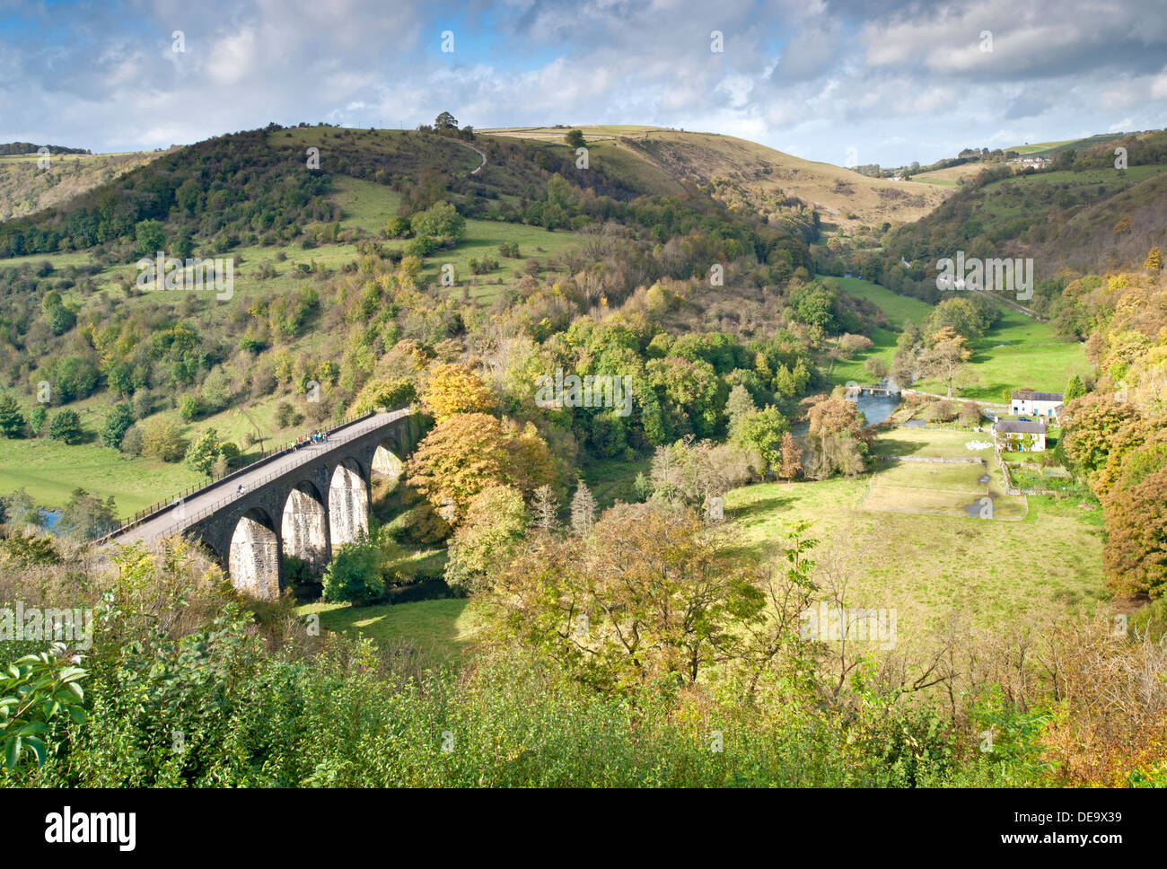 Monsal Dale and Headstone Viaduct, Peak District National Park, Derbyshire, England, UK - Stock Image