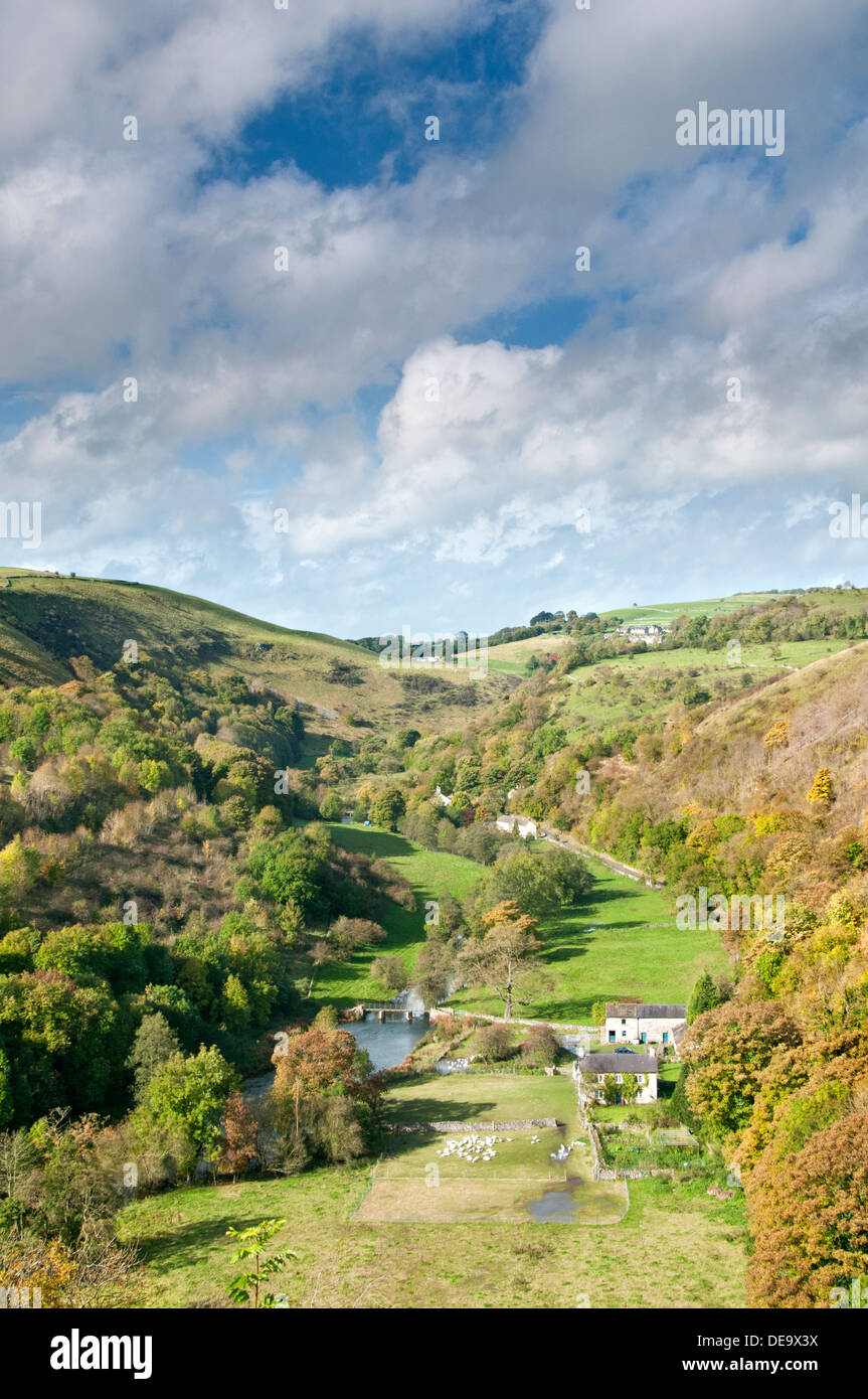 Monsal Dale and River Wye, Peak District National Park, Derbyshire, England, UK - Stock Image