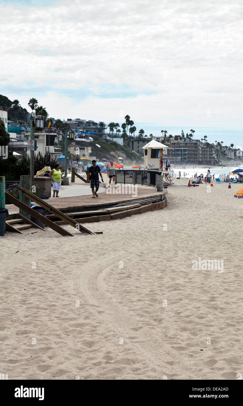 A view of Laguna Beach in Orange County, California Stock Photo