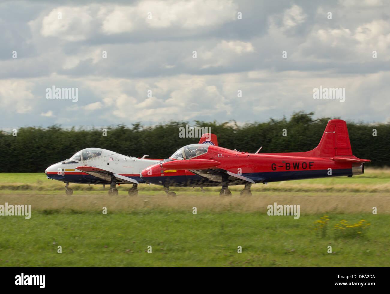Jet Provost Trainer Jet Aircraft Stock Photo