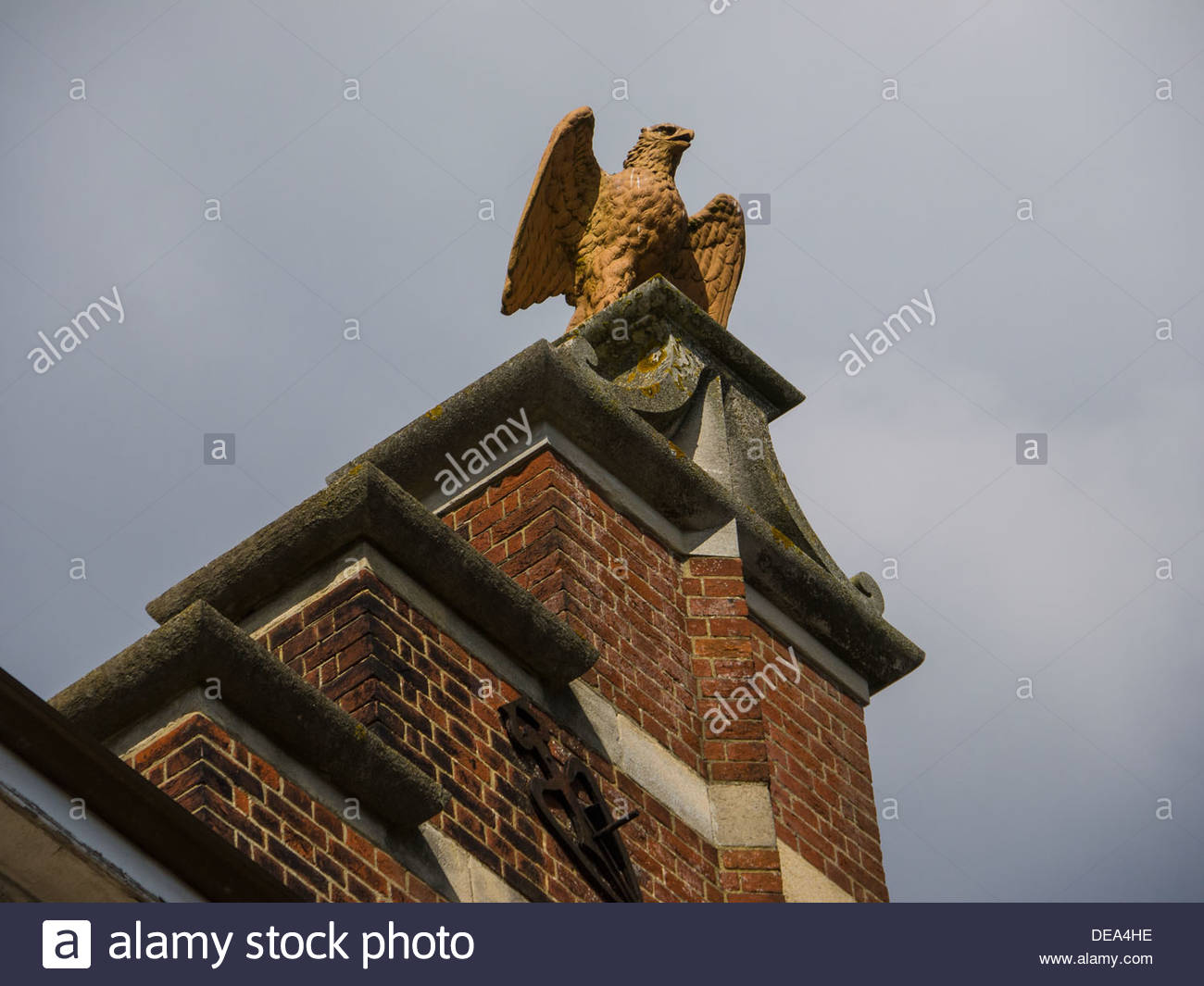 Eagle Statue Cld May and Wade Export Grocers Shipping Contractors Building Southampton England UK - Stock Image