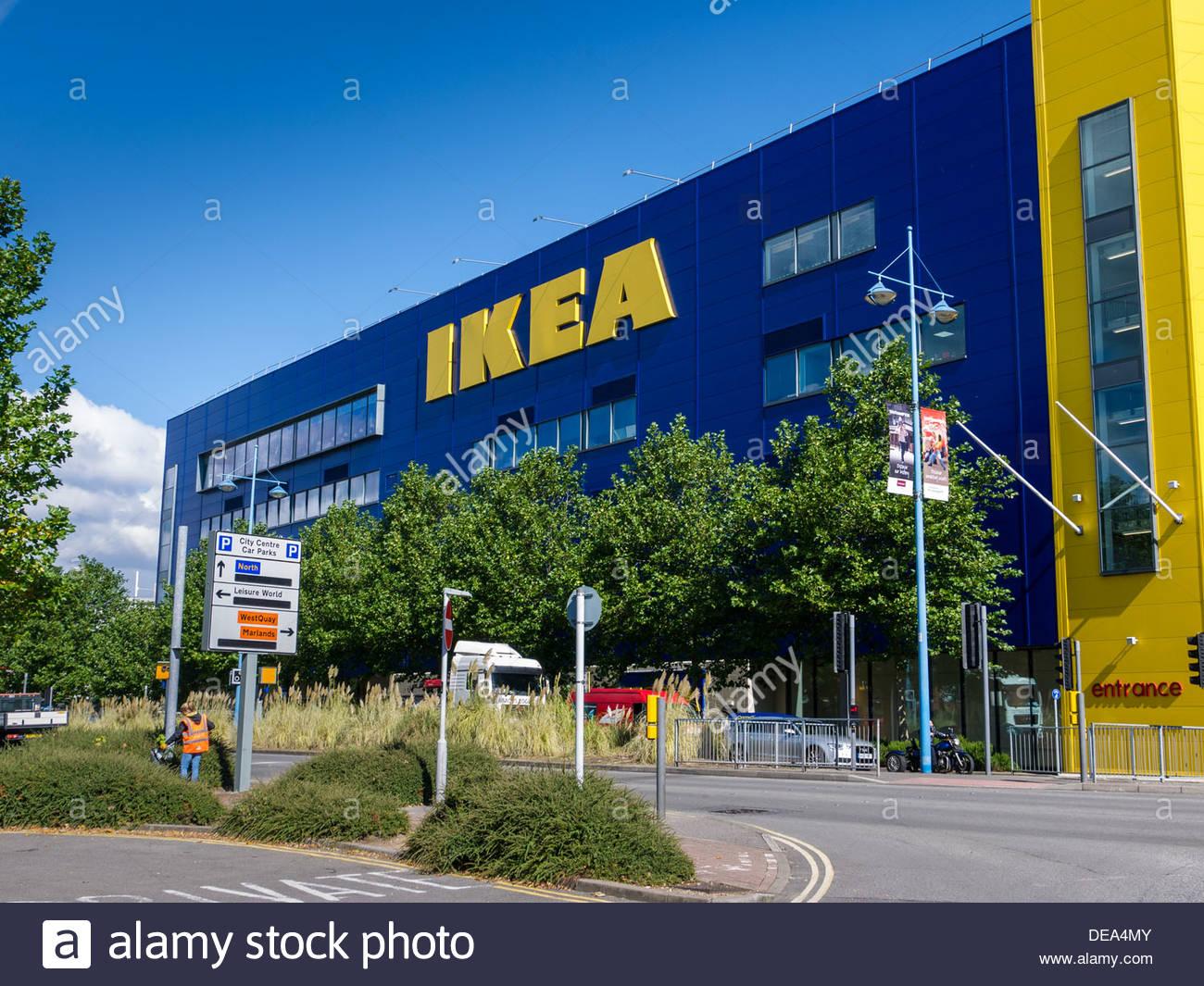 Large Ikea Swedish Store Southampton England UK - Stock Image