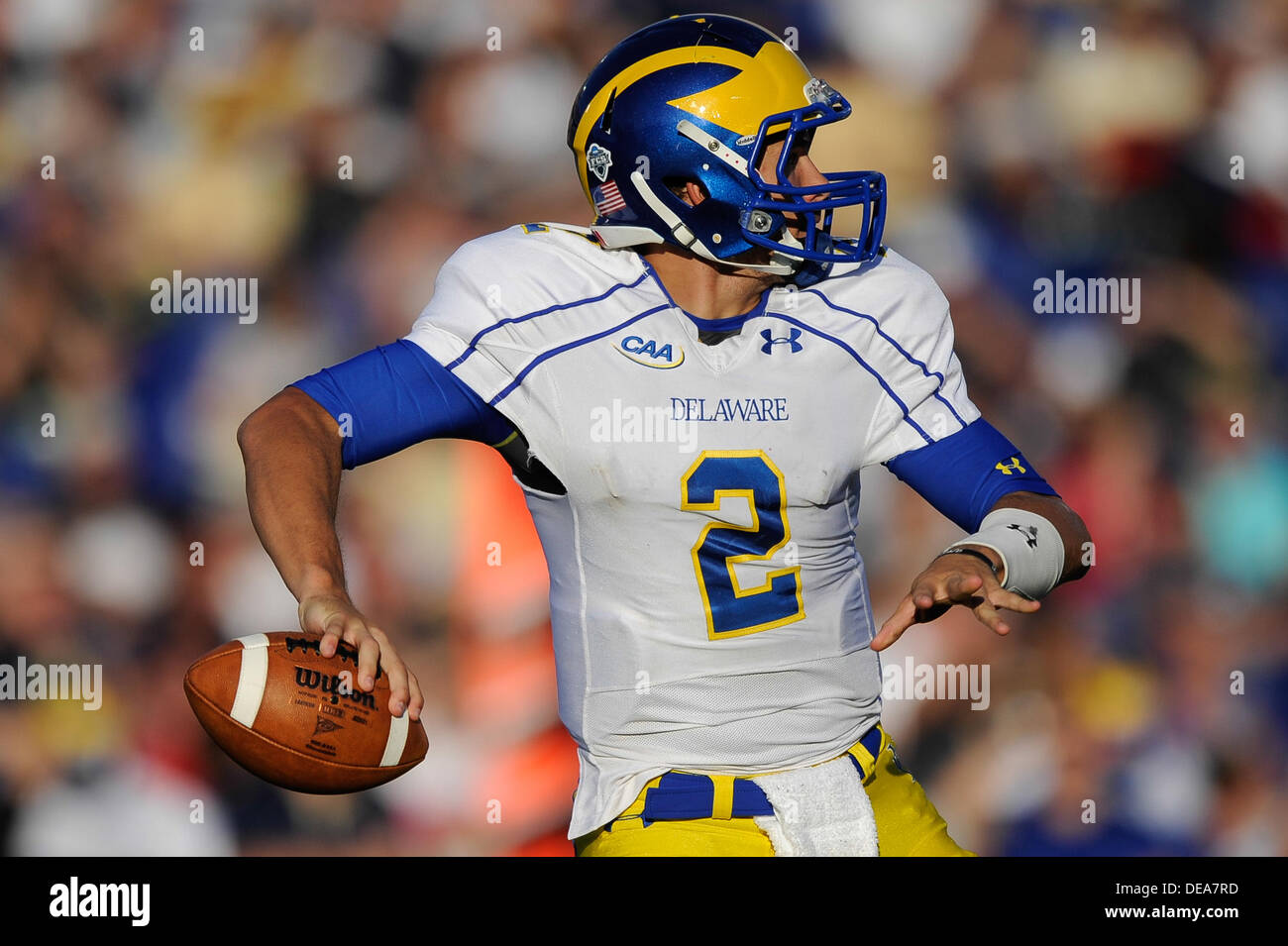 new concept 09b5e 92b08 SEP 14, 2013 :Delaware Fightin Blue Hens quarterback Trent ...