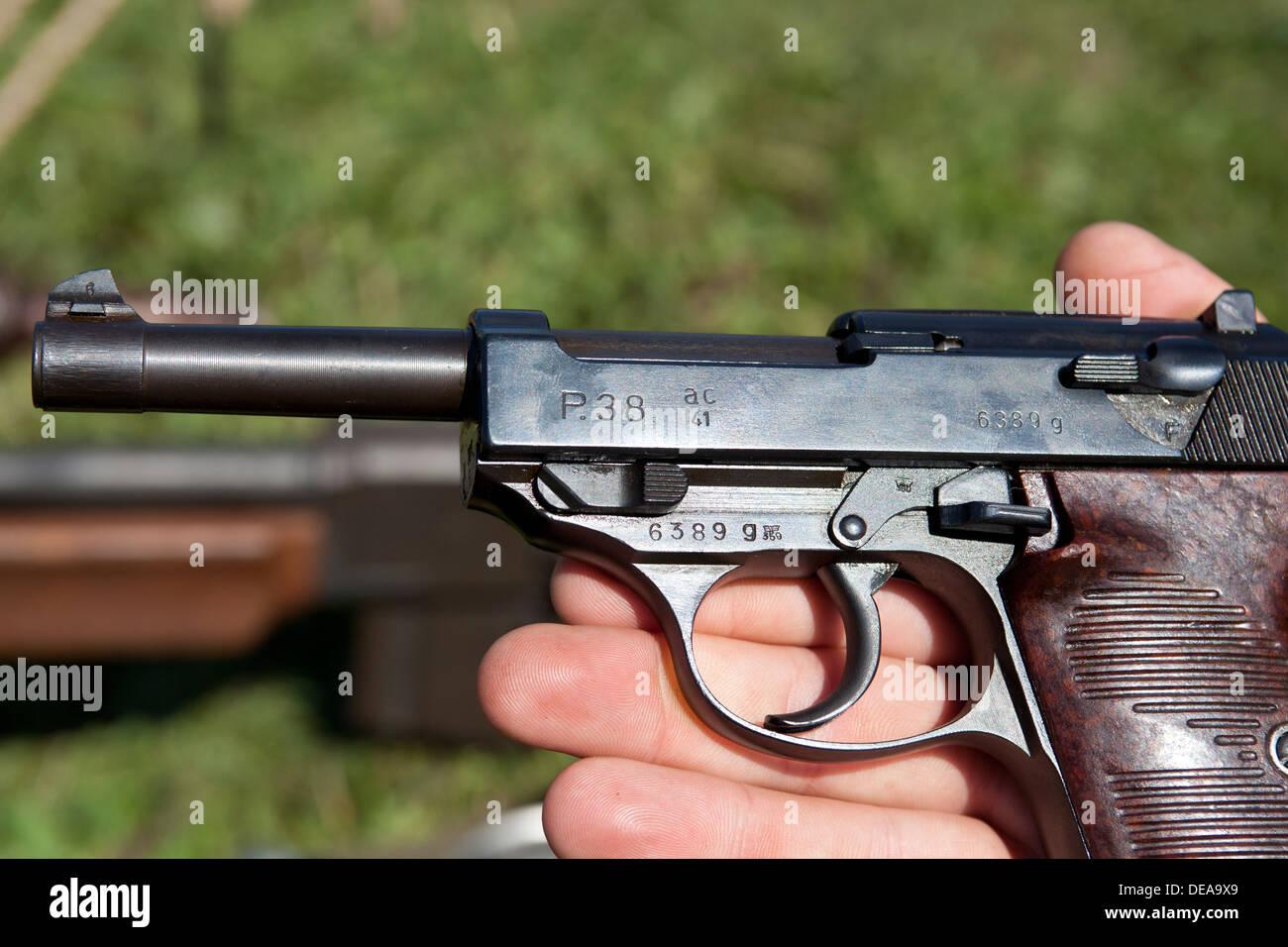 Walther P38 WWII era German handgun - Stock Image