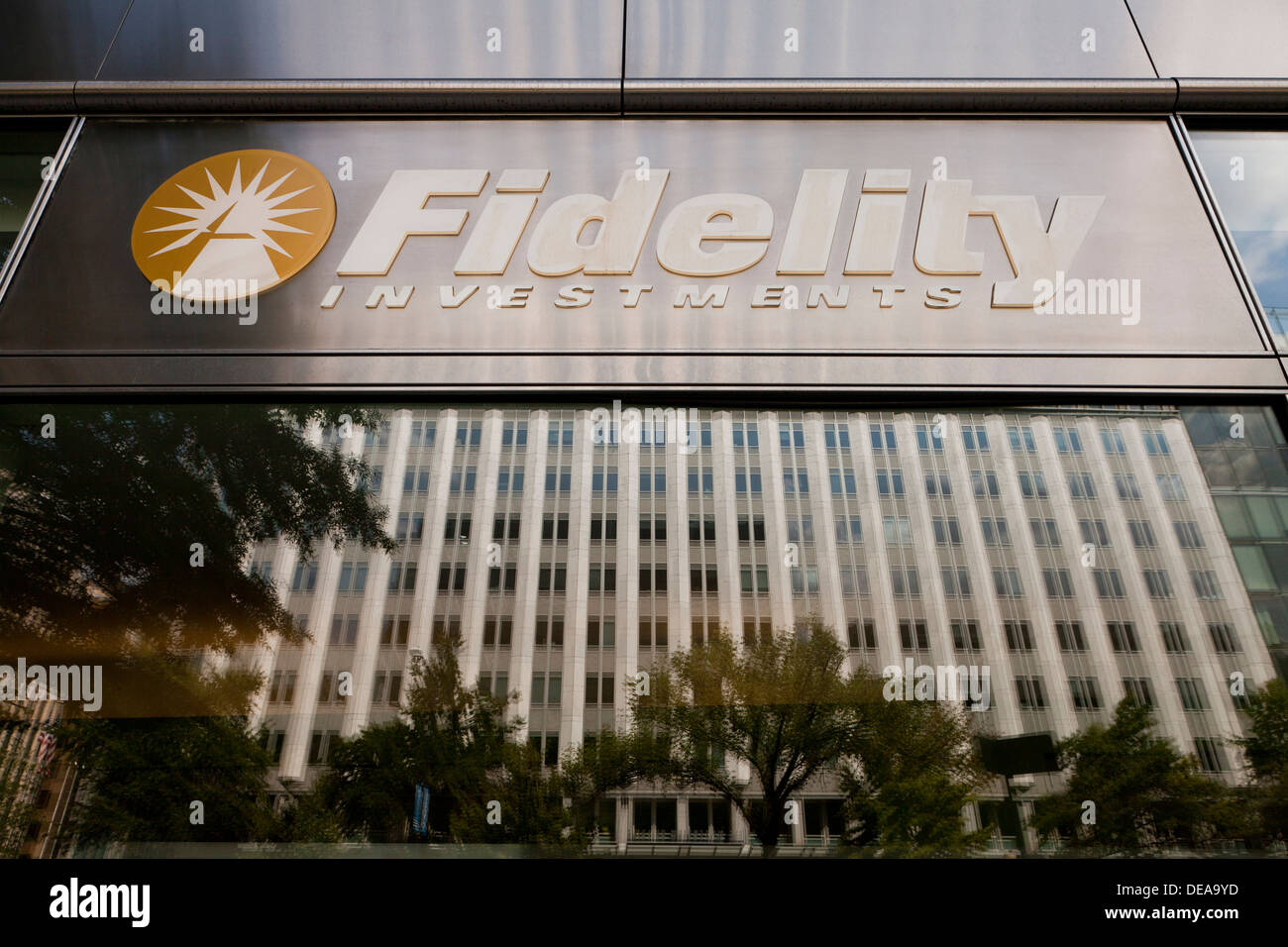 Fidelity Investments office sign - Stock Image