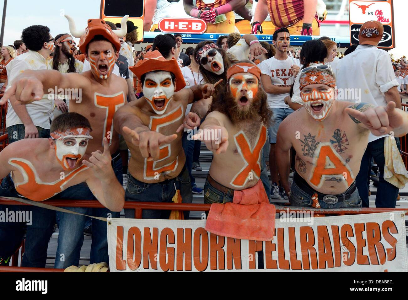 Sept 14 2013 Fans Of The Texas Longhorns In Action Vs The Ole
