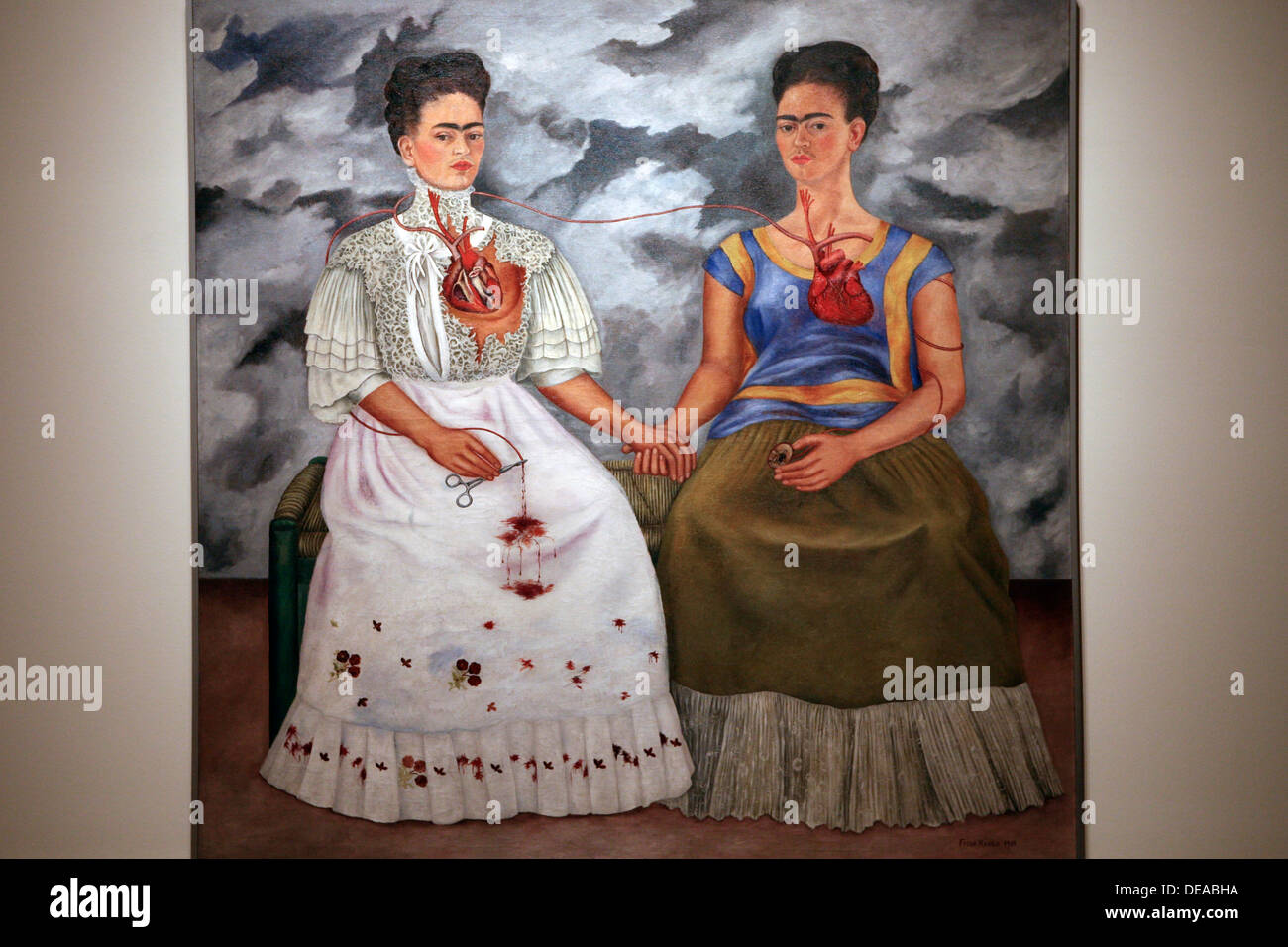 Frida Kahlo. The Two Fridas. 1939. Oil on canvas. Mexico celebrates 100th anniversary of Frida Kahlo's birth - Stock Image