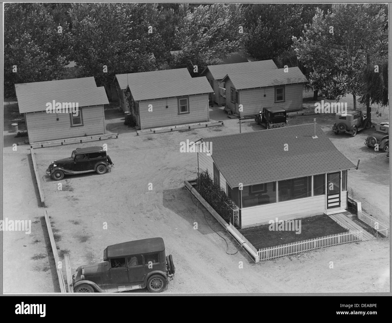 Contra Costa County, California. Housing provided for year-round employees, in labor camp, large-sca . . . 521718 - Stock Image