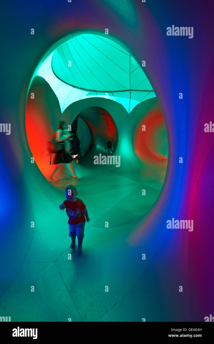 Inside the Amococo Luminarium at Bournemouth, Dorset UK in September Stock Photo