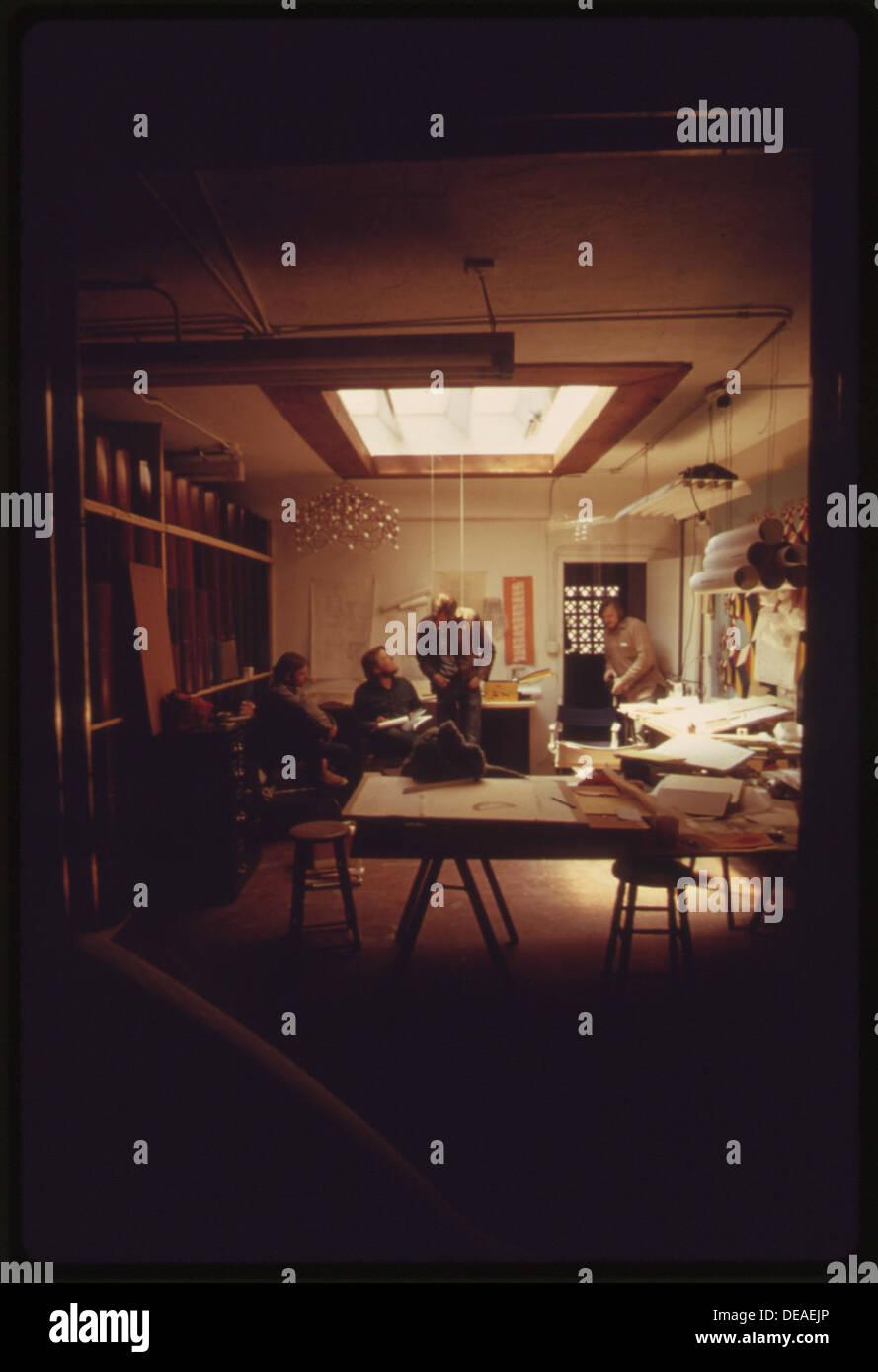 interior of the office of zomeworks inc of albuquerque new mexico